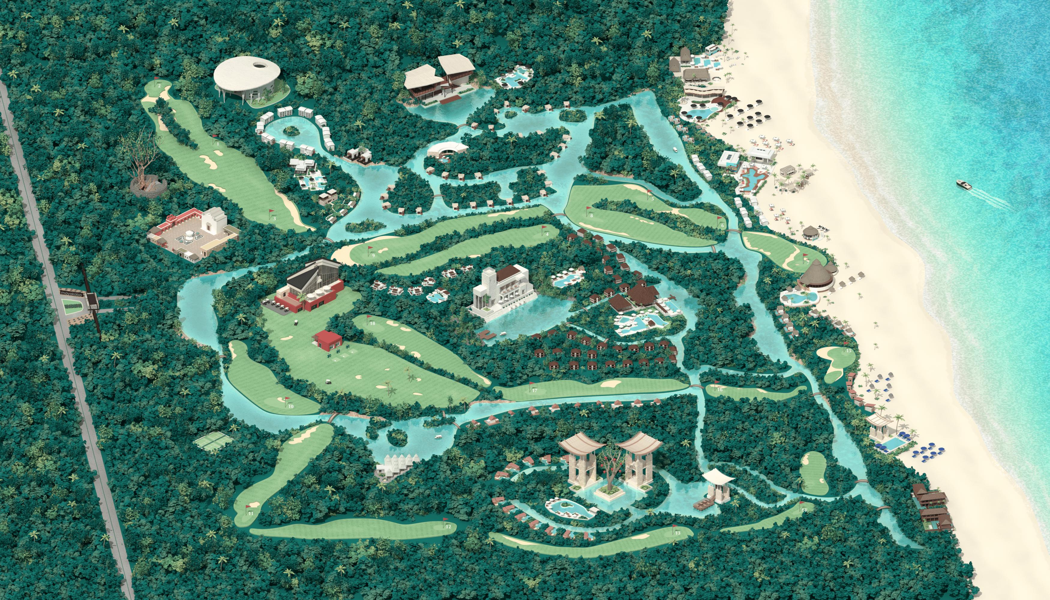 Mayakoba Interactive Map