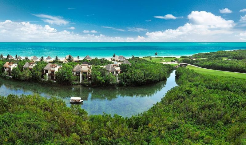 luxurious stretch of the Caribbean Sea coastline
